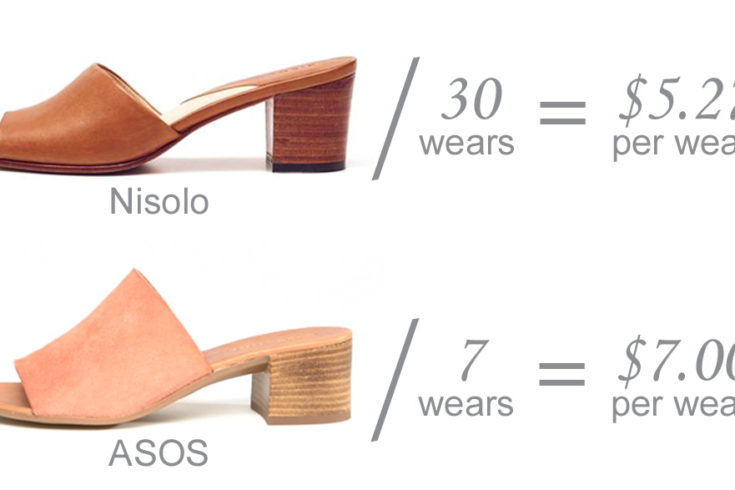 Style Indigo price-per-wear Ethical wardrobe brands Nisolo vs ASOS