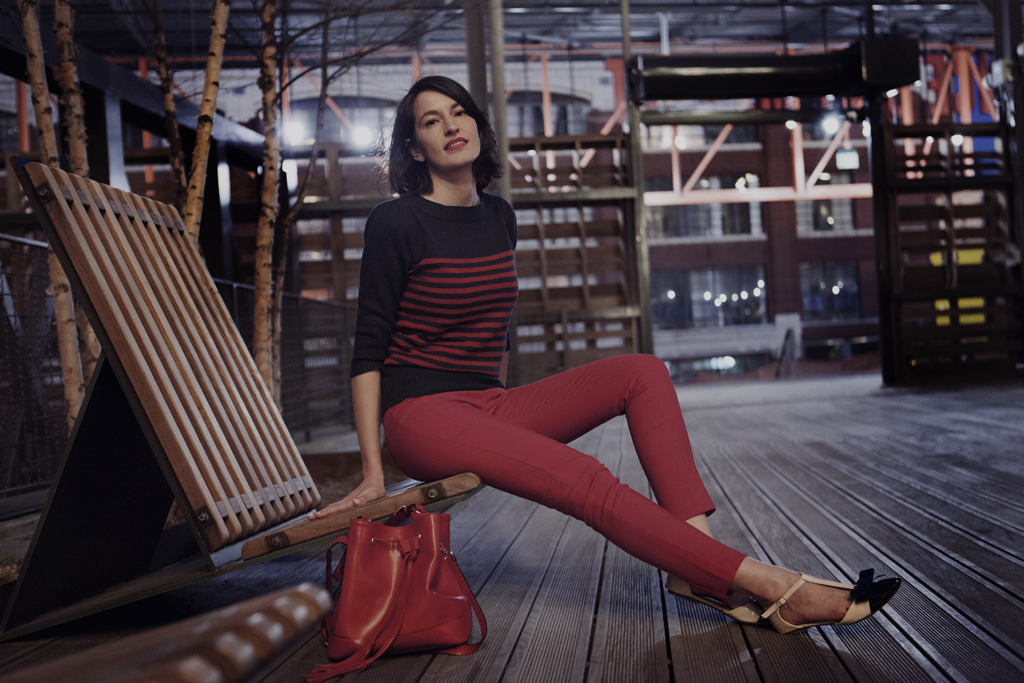Sailor Style red trousers strip jumper