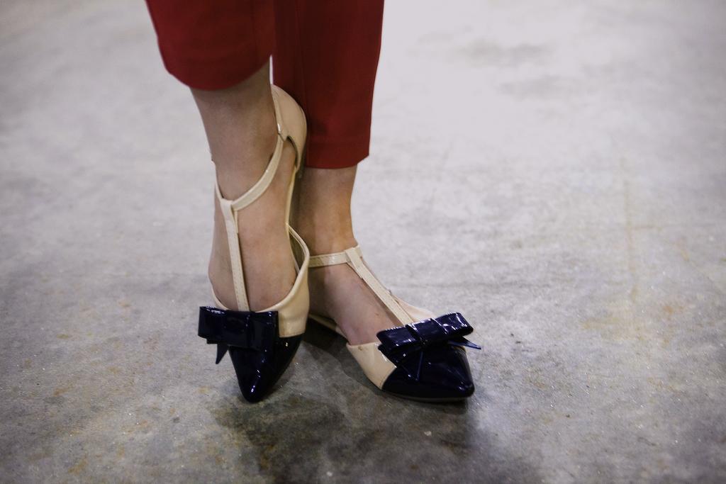 Style Indigo patent ballerinas