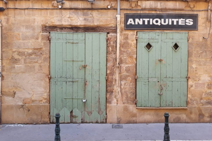 Streets of Marseilles, an antiques store