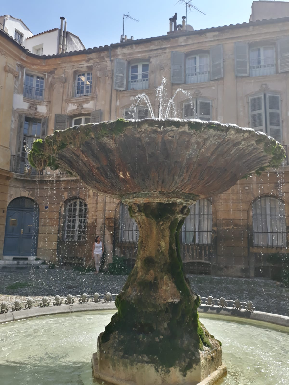 Marseilles, a beautiful fountain in the middle of the city